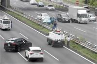 あおり運転立件へ現場で実況見分 脇見か対向車線で衝突事故