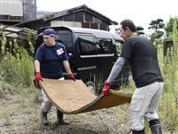 佐賀で復旧作業本格化 水害地域、初の週末