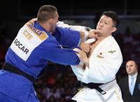 原沢、決勝で反則負け 世界柔道