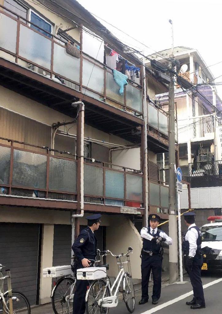 船戸結愛ちゃんが暮らしていたアパート。公判ではベランダに立たせられたりしていたことも明らかになった=東京都目黒区