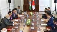 首相、12月訪印を確認 インド、モンゴルの首脳と会談