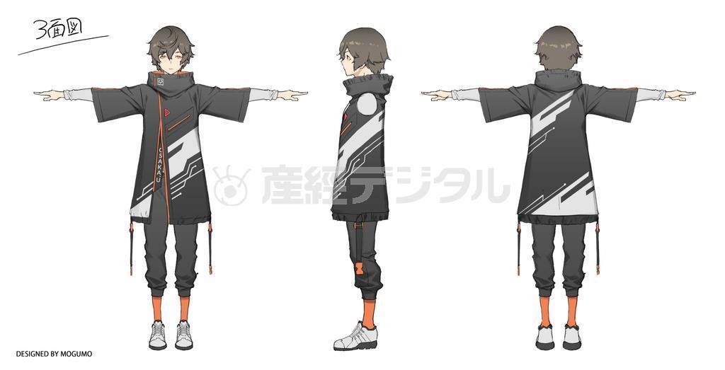 佐久間さんをモデルにしたバーチャルユーチューバーのキャラクター=イラスト(「モグモ・MUGENUP」デザイン)=を使った研究にも取り組んでいる(佐久間さん提供)