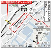 トラック高さ制限回避か 京急事故 線路脇に迷い込む?