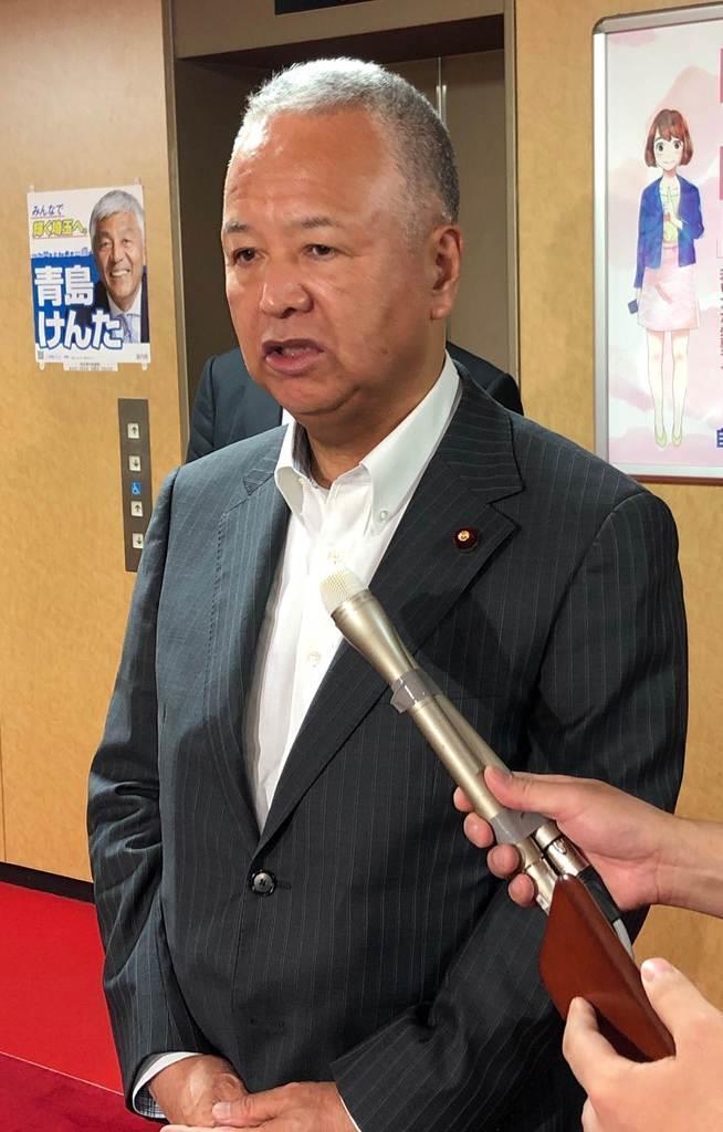 自民党の甘利明選対委員長(清宮真一撮影)
