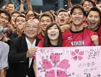 池江選手「リベンジする」 3日間、日本大を応援