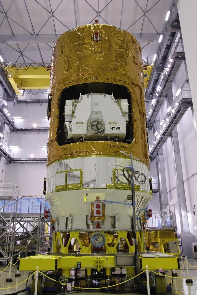 物資補給機「こうのとり」8号機=7月、鹿児島県南種子町のJAXA種子島宇宙センター(JAXA提供)