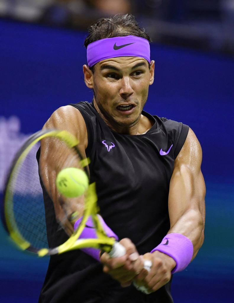 男子シングルスで決勝に進出したラファエル・ナダル=ニューヨーク(共同)