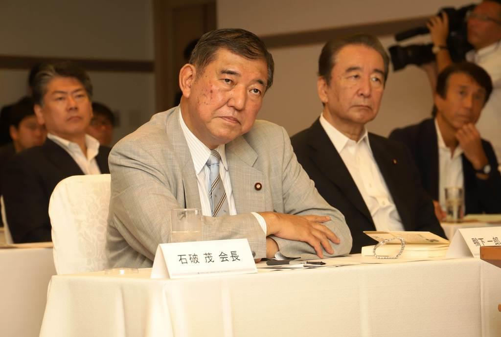 自民党の石破茂元幹事長(奥原慎平撮影)