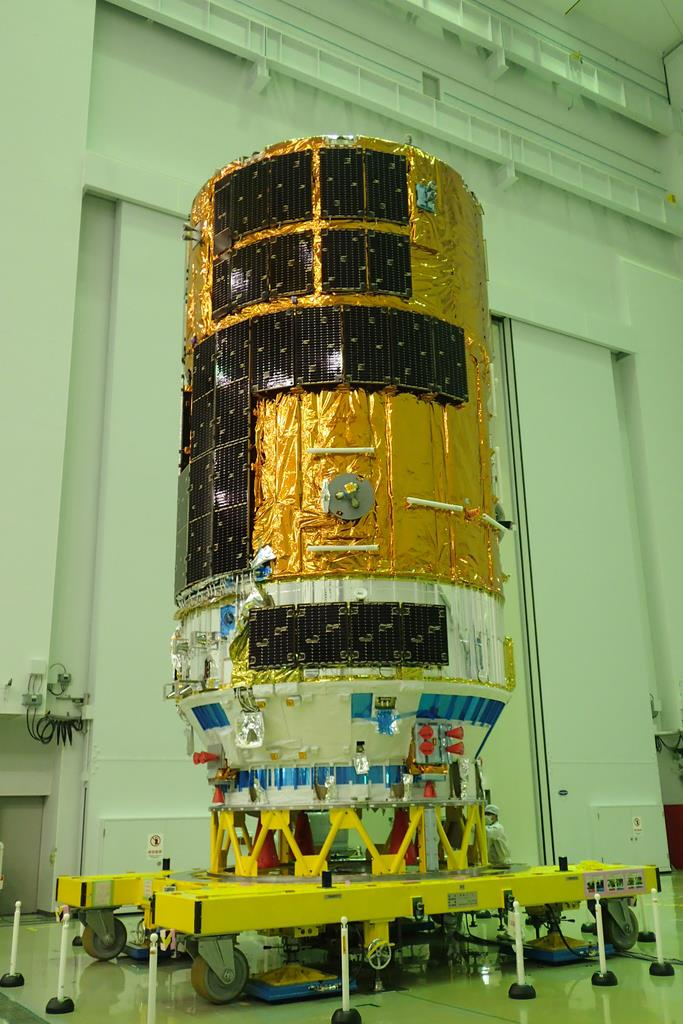 物資補給機「こうのとり」8号機=6月、種子島宇宙センター(JAXA提供)
