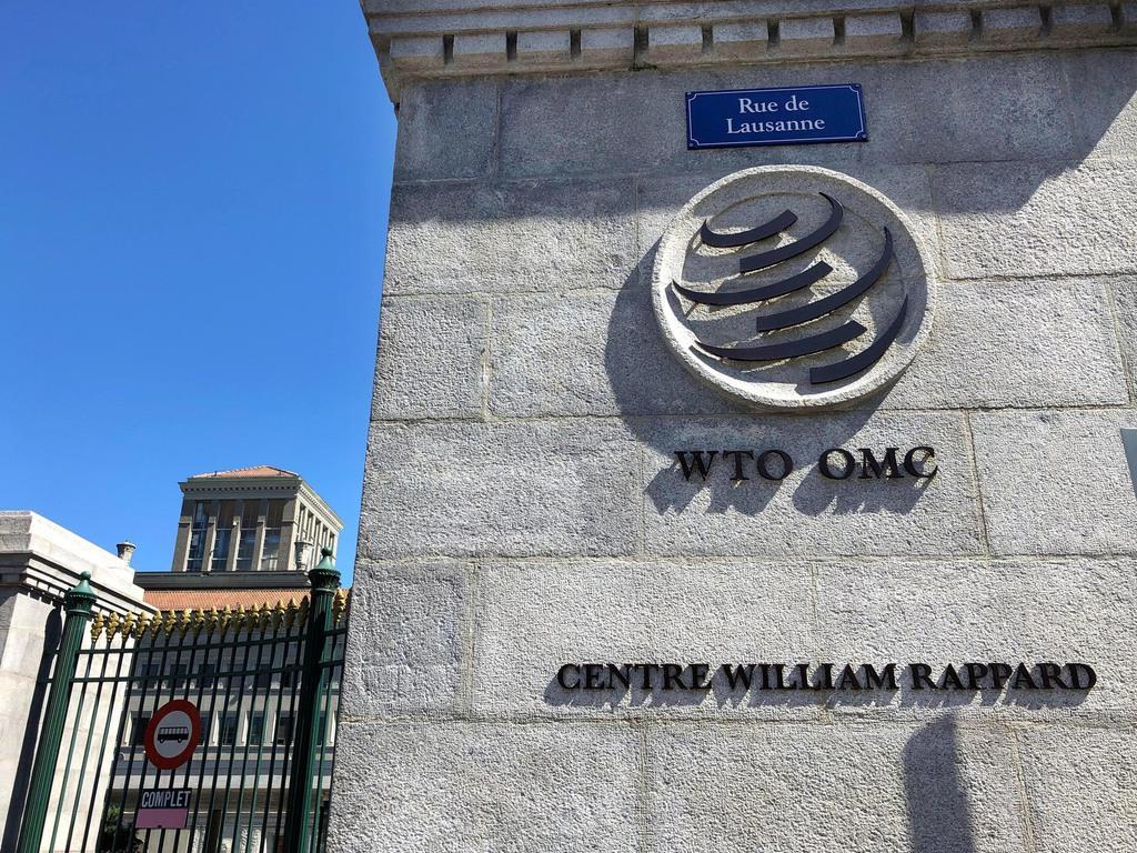 スイス西部ジュネーブにあるWTO本部=3日(共同)
