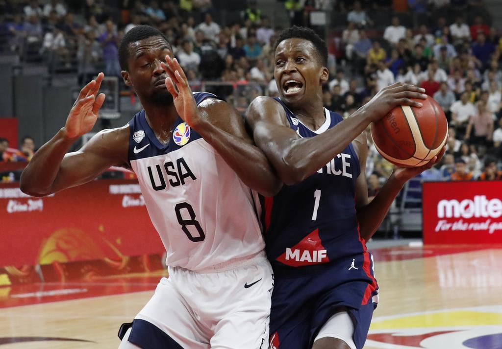 バスケ男子W杯でフランスに破れ、米国は3連覇を逃した=11日(ロイター)
