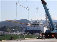 金沢から敦賀へ延伸1.33万本…北陸新幹線レール、陸揚げ開始