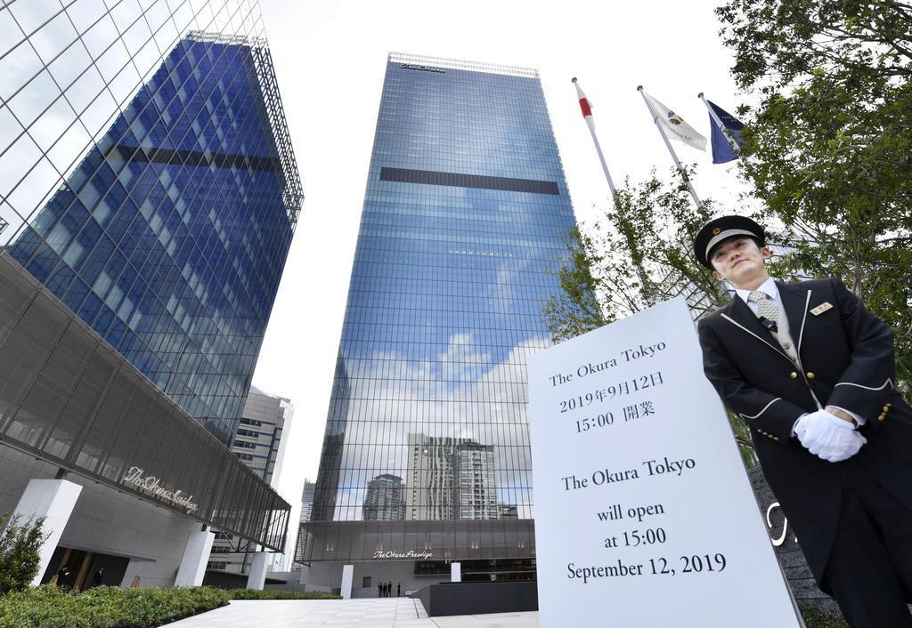 ホテルオークラの新たな旗艦ホテル「The Okura Tokyo」=12日午前、東京都港区