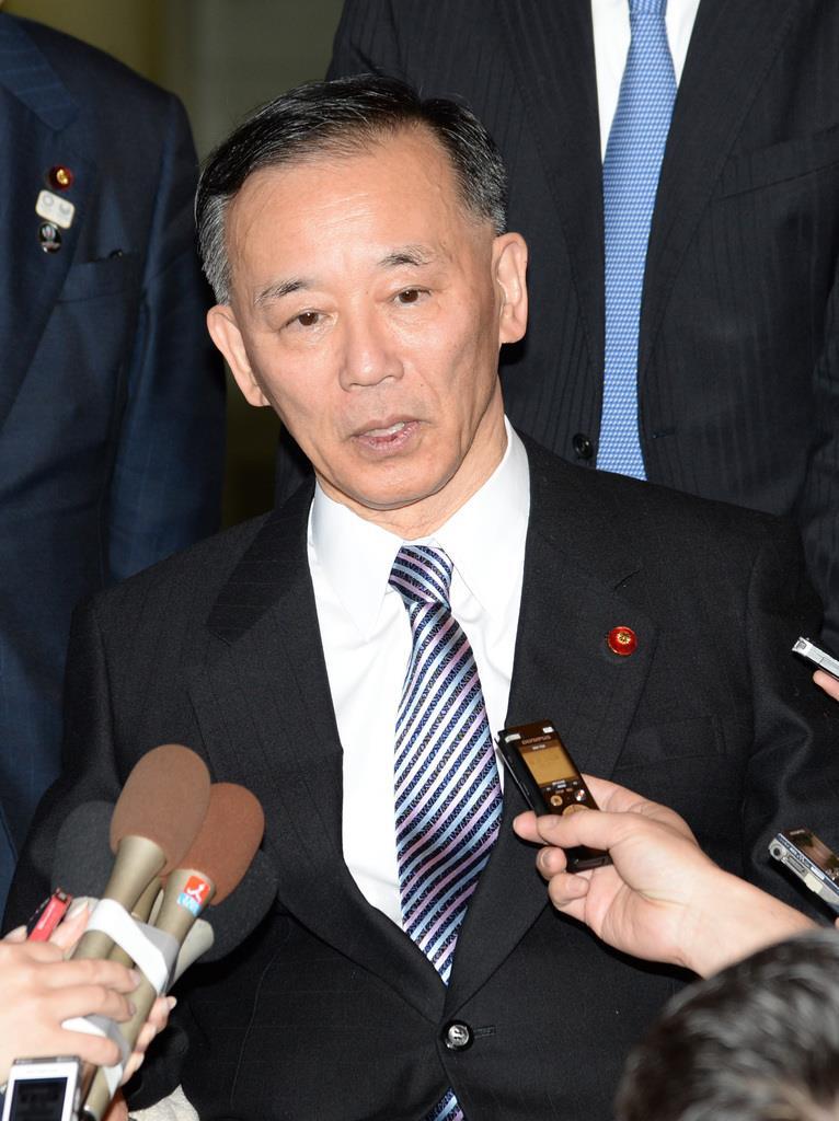 自民党の谷垣禎一前幹事長(宮川浩和撮影)