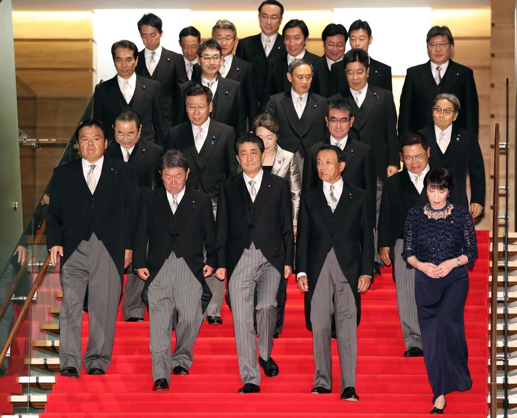 第4次安倍再改造内閣 閣僚19人の横顔