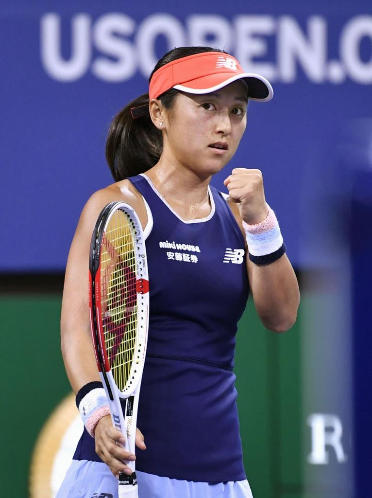 8月、全米オープンテニス1回戦に登場した土居美咲=ニューヨーク(共同)