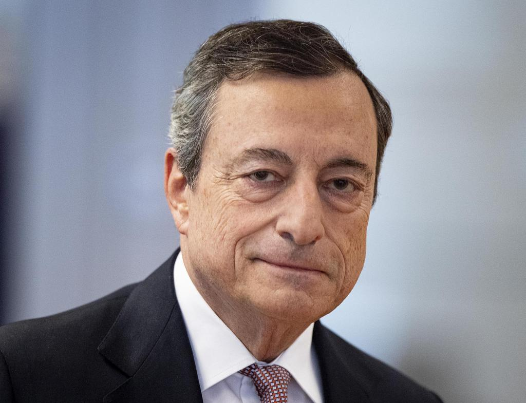 欧州中央銀行(ECB)のドラギ総裁(AP)