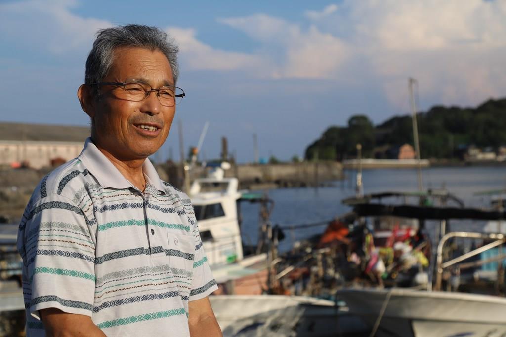 「干拓で生態系が一気に崩れた」と憤る漁師の平方宣清さん=佐賀県太良町(大竹直樹撮影)