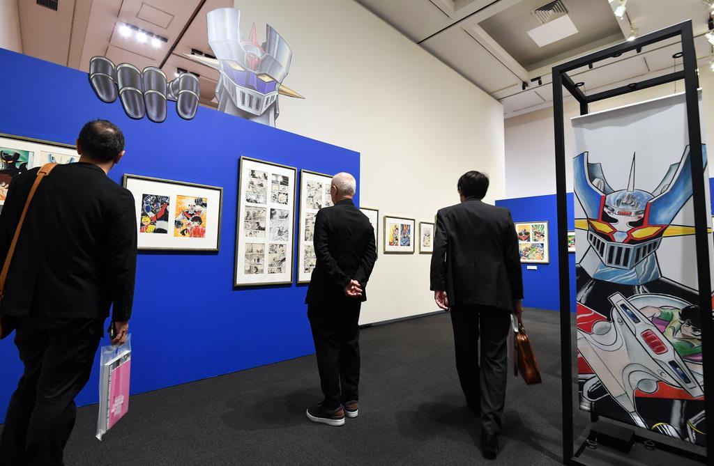 「永井GO展」の関係者向け内覧会が開かれた=13日午後、東京・上野公園の上野の森美術館(酒巻俊介撮影)