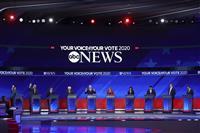 大統領選 第3回民主党討論会 上位候補10人が一堂に