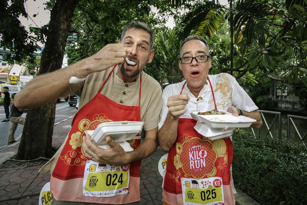 走って食べる「KILORUN(キロラン)」のバンコク大会=5月