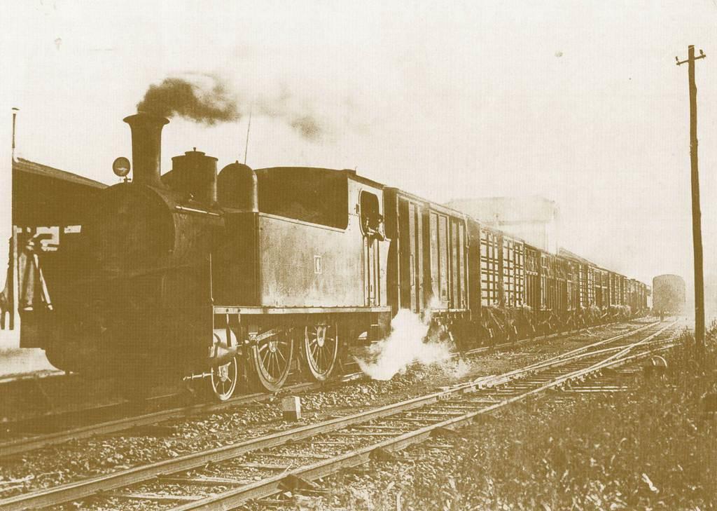 出石鉄道を走っていた蒸気機関車「6号」(豊岡市商工会青年部出石支部提供)
