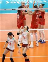 バレー日本が初黒星 女子W杯、ロシアの高さに屈す