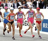 MGC女子 松田が10キロ手前で追い付く 10キロで先頭集団7人