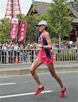 MGC女子 35キロも前田の独走変わらず、暑さの中でもペース落ちず