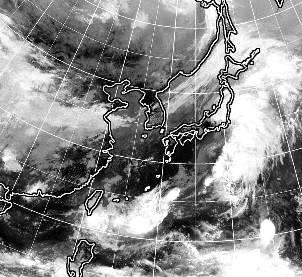 9月16日午前11時現在のひまわり雲画像
