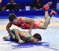 文田、メダル確定で五輪代表 レスリング世界選手権