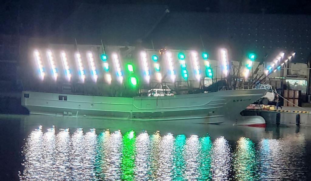 連絡が途絶えた大樹漁協所属のサンマ棒受け網漁船「第65慶栄丸」(同漁協提供)