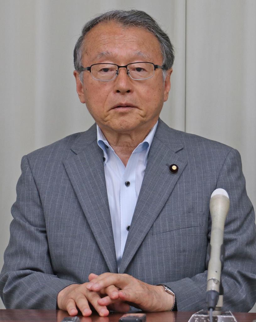 中川正春衆院議員(絹田信幸撮影)