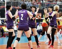 日本はカメルーンにストレート勝ち 2勝2敗に バレー女子W杯