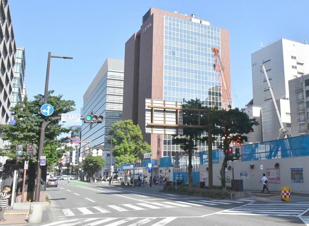 再開発が進み地価が上昇する福岡市の中心部