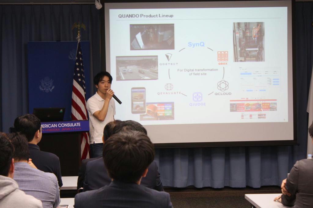 日韓の起業家がビジネスモデルを発表したイベント