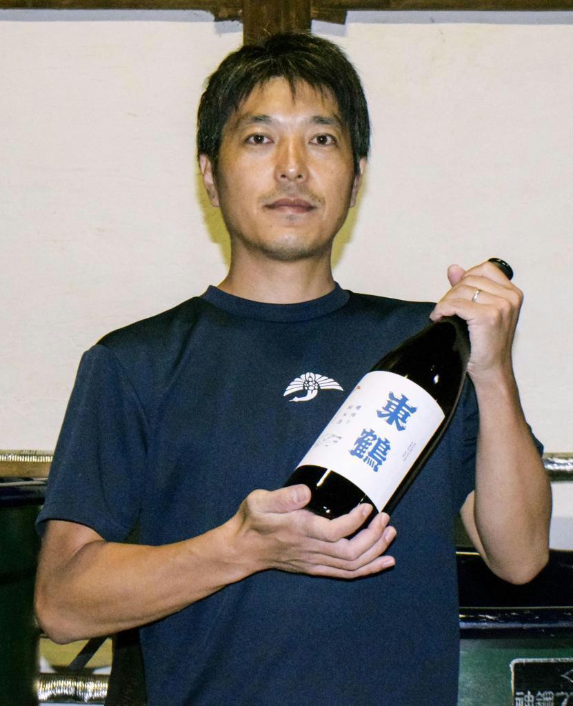 「東鶴酒造」の野中保斉社長