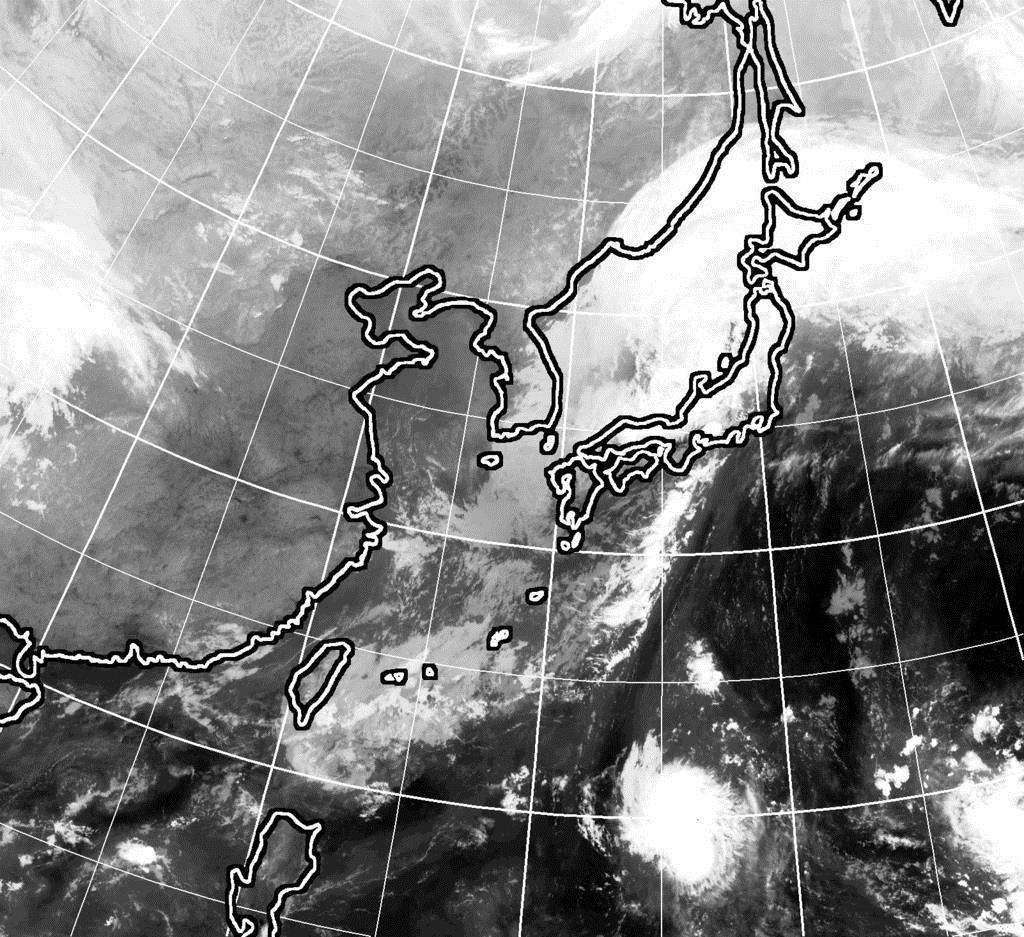23日9時現在のひまわり雲画像
