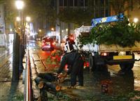長崎、80代女性が軽傷 台風17号で停電7万戸超