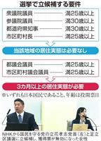 【NEWSルーペ】「居住実態なし」で選挙無効、投票後にしか判断できない理由