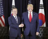 米韓首脳、GSOMIAには触れず