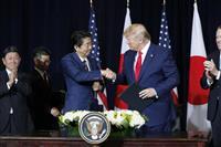 日米首脳会談、安倍首相「相当突っ込んだ議論」 日韓関係も話題に