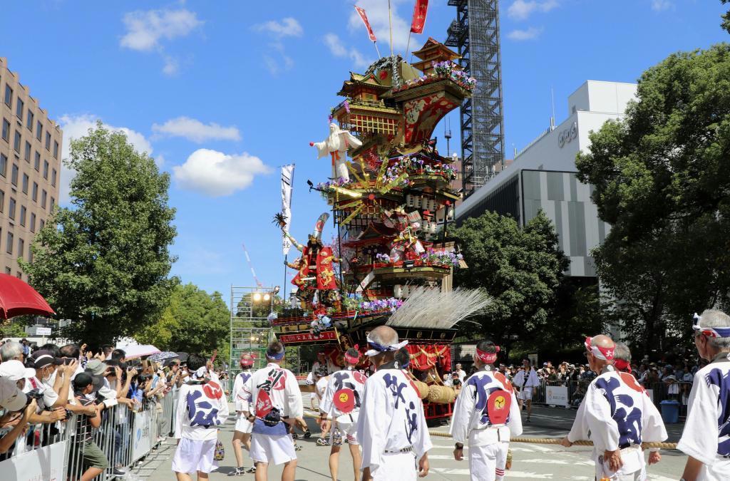 「祭りアイランド九州」で披露された「日田祇園祭」