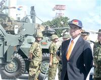 河野防衛相、在沖米軍トップと会談 初の沖縄訪問