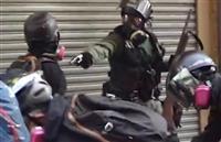 香港デモ 警官発砲で高校生重体 各地で衝突、66人搬送