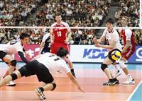 日本、サーブミスで流れつくれず バレー男子W杯