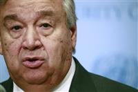 国連事務総長、北朝鮮のSLBM発射を「非常に懸念」