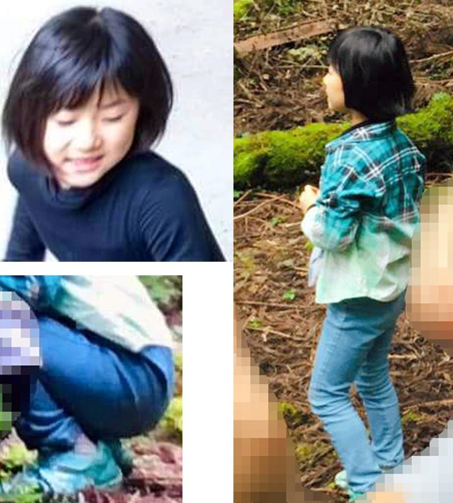 (左上)小倉美咲さんが行方不明になったときの黒いインナー(左下と右)青いジーンズと緑の靴は不明時と同じ(いずれも家族提供)