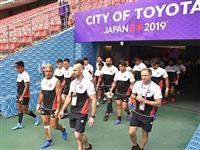 ラグビー日本代表、サモア戦へ最終調整