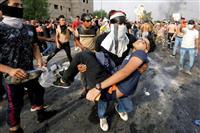 イラク反政府デモ 死者44人に拡大、発砲も